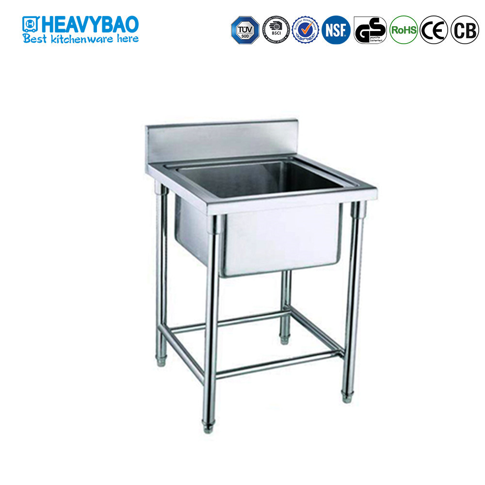 Heavybao Stainless Steel Single Bowl Custom Made Kitchen Sinks Washing Basin Sinks pictures & photos
