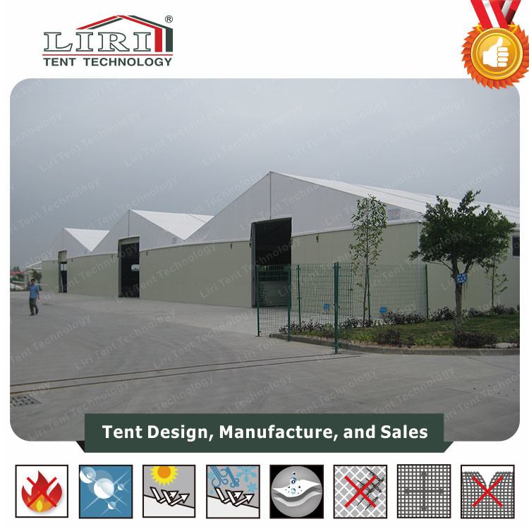 Temporary Warehouse Tent with Steel Sandwich Wall for Workshop pictures & photos