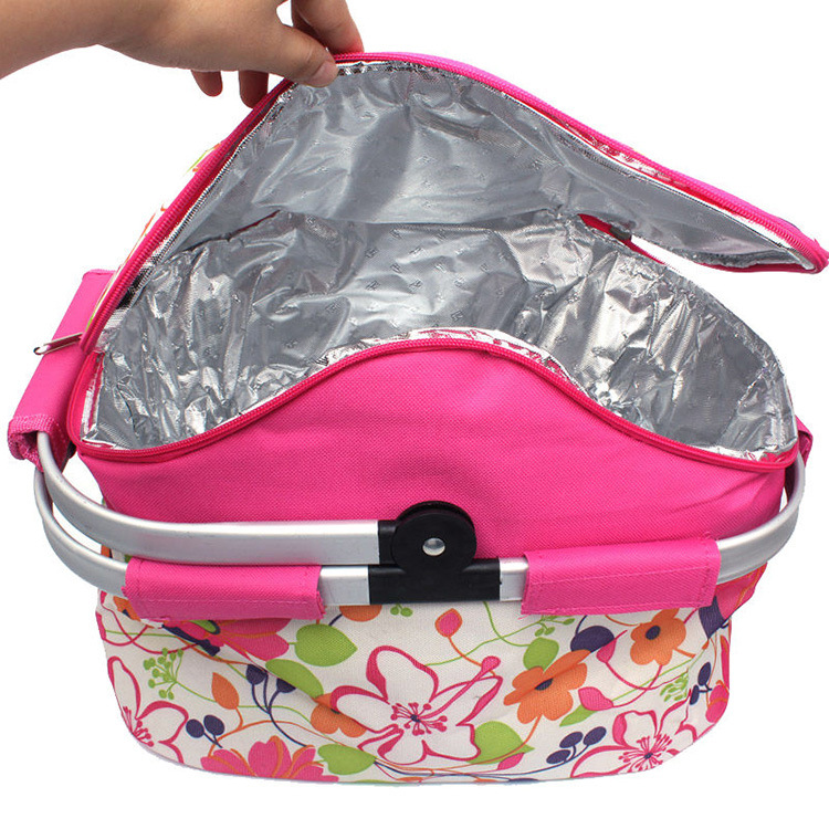 [Hot Item] Collapsible Cheap Lunch Bag Cooler Basket Insulated Picnic  Cooler Bag