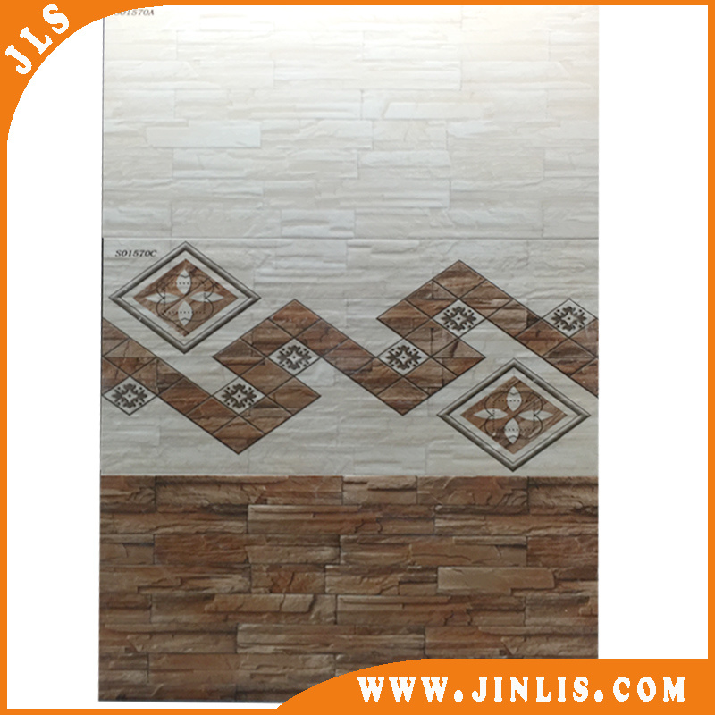 China Brick Look Ceramic Wall Tile With Abc Design For Pakistan