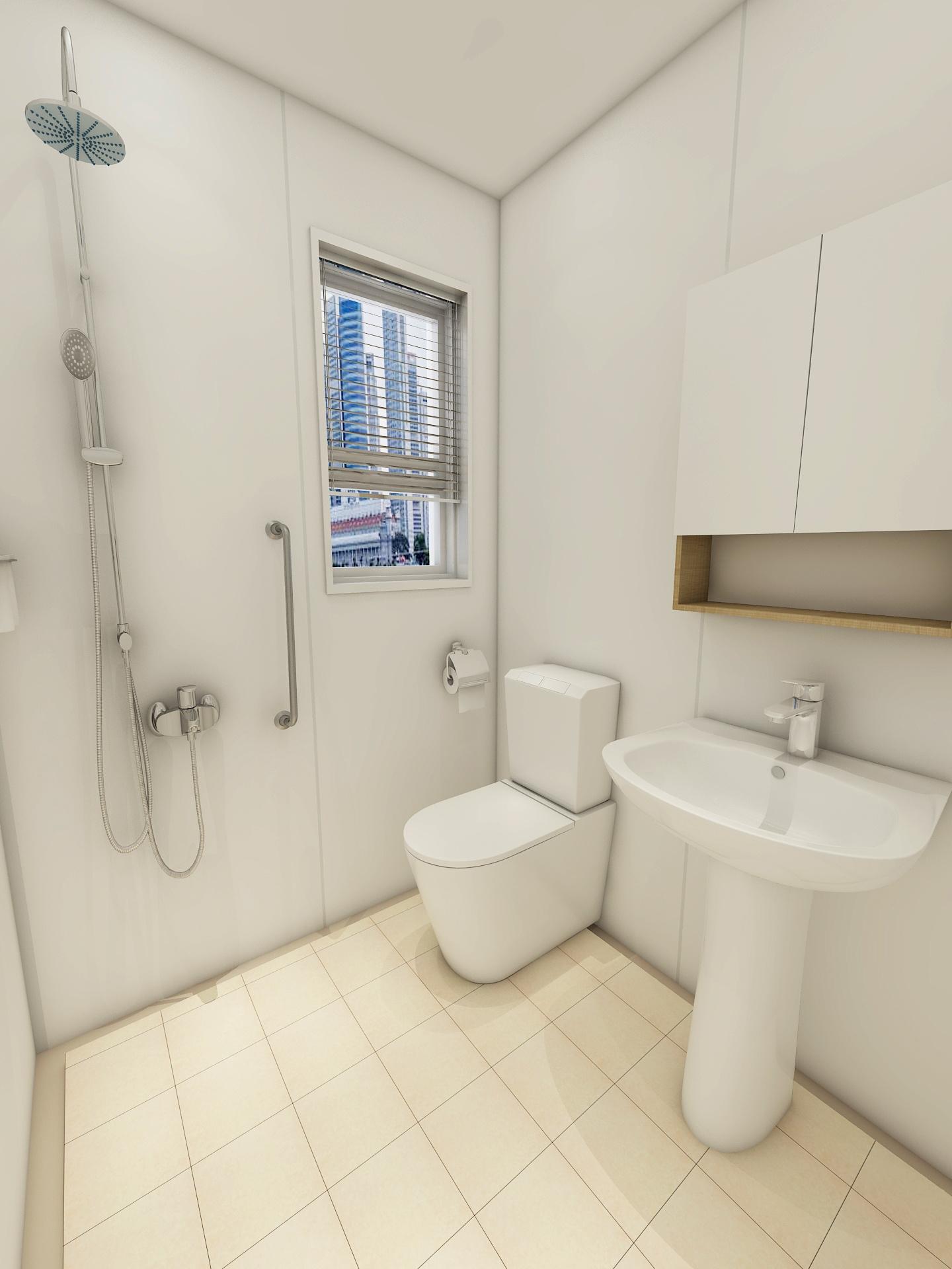 China Prefab Bathroom Shower With Toilet, Modular Bathroom Designs