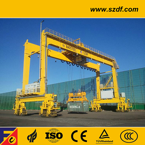 Rtg Crane / Portable Rubber Tyre Container Gantry Crane pictures & photos