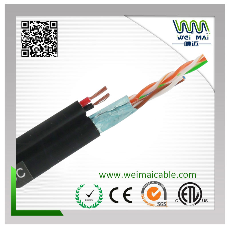 4pair 24AWG Bc Cat5e FTP 2power LAN Cable
