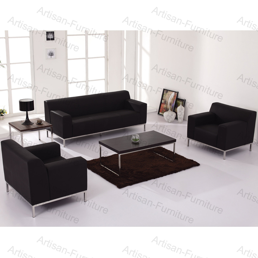 Admirable China Black Leather Sofa With Steel Leg Modern Furniture Onthecornerstone Fun Painted Chair Ideas Images Onthecornerstoneorg
