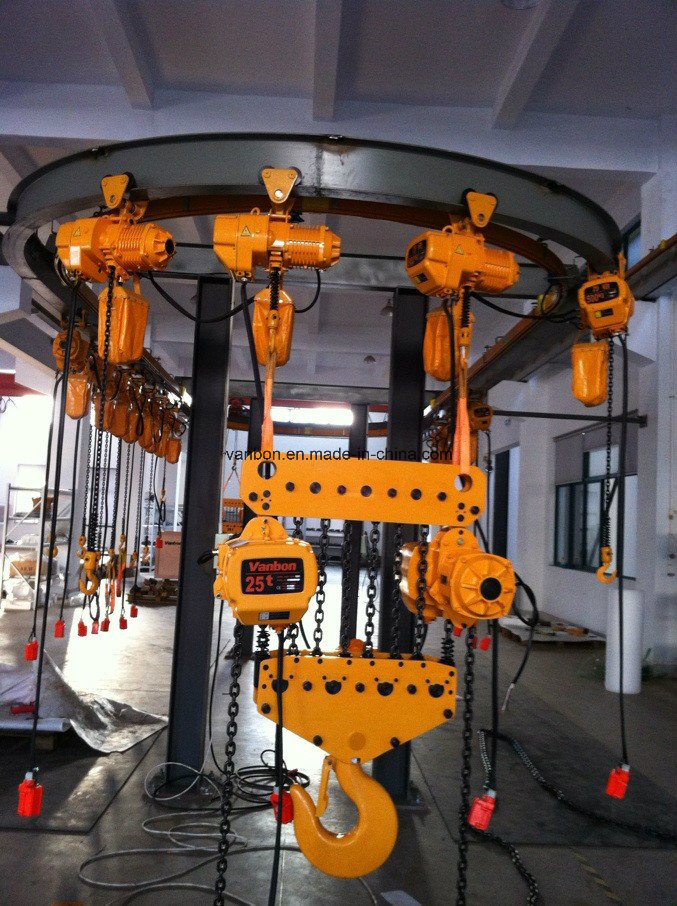 Vanbon 15ton Electric Chain Hoist with Trolley Mounted pictures & photos