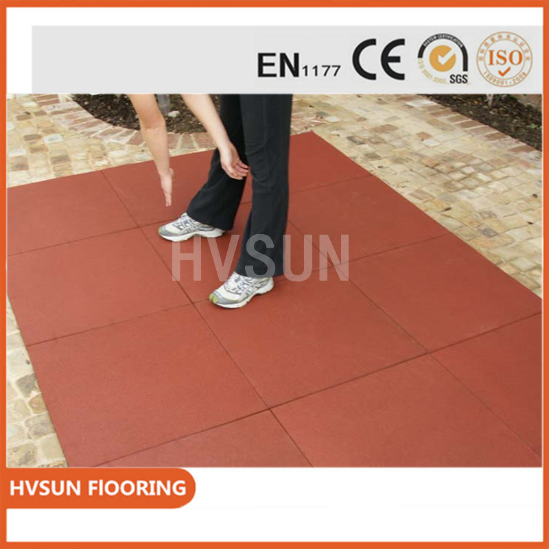 New Floor Materials Outdoor Flooring DIY Easy Install And Colorful Durable Safety Rubbrer Tiles