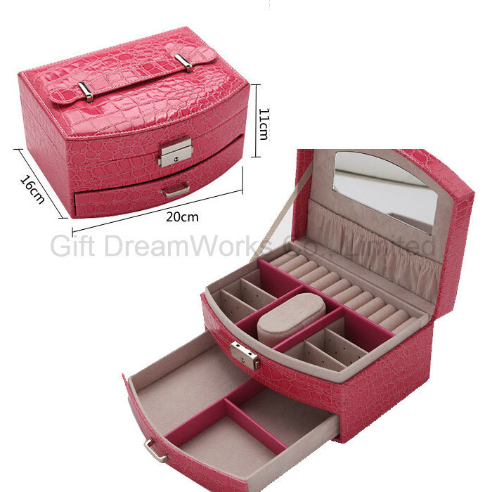 Sweet PU Leather Jewelry Case Wholesale Return Gifts For Birthday And Gift