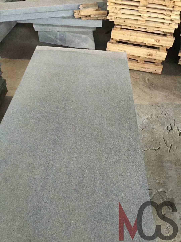 China Polished Dark Grey Granite Tiles For Flooring And Wall China
