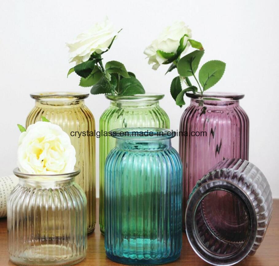 China Decoration Painting Colored Glass Bottle Vase China Glass