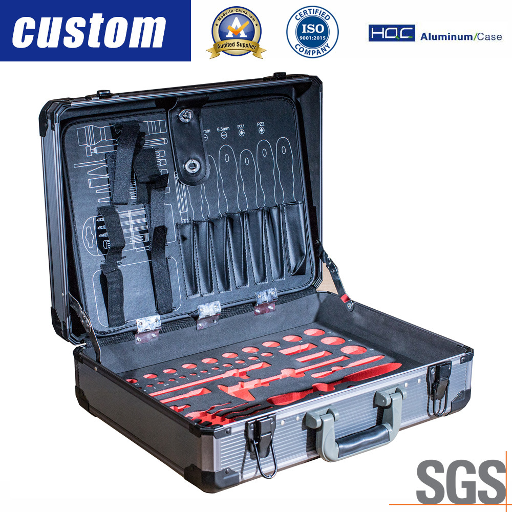 Large Hard Aluminium Flight Case Tool Box Storage Briefcase Blue Secure Quality