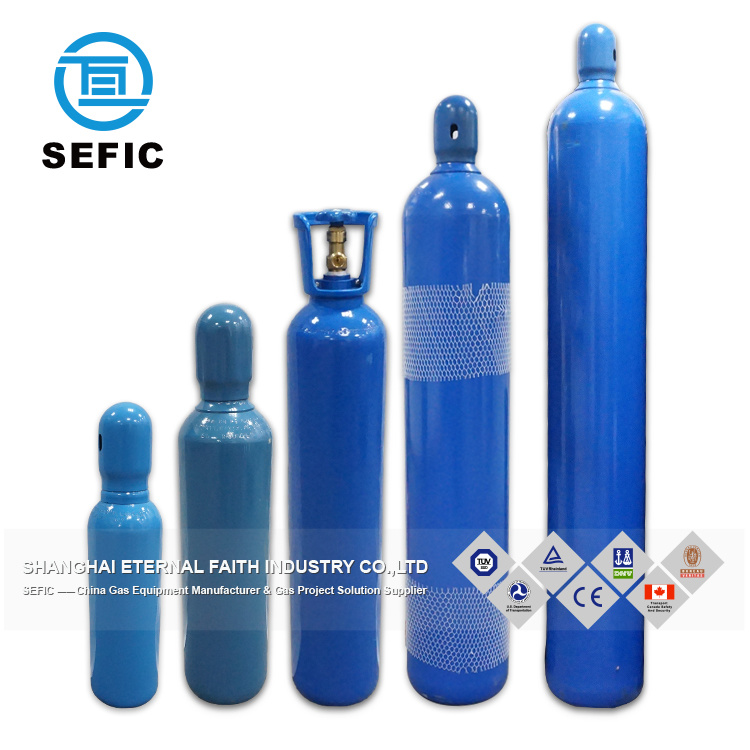 [Hot Item] 50L Seamless Steel Industrial Oxygen Gas Cylinder Air Cylinder