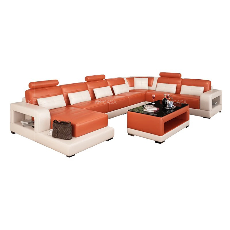 [Hot Item] European Modern L Shape Sectional Leather Sofa (Corner sofa)