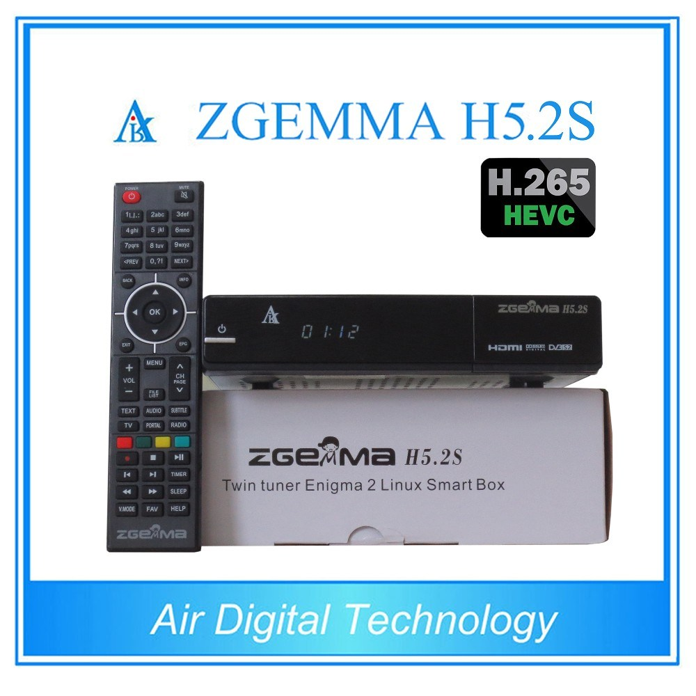 [Hot Item] Worldwide Channels Software Zgemma H5 2tc Satellite Receiver  Bcm73625 Linux OS E2 Hevc/H  265 DVB-S2+S2 Twin Tuners