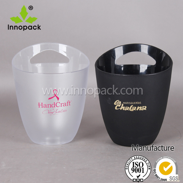 PS Printed Insulated Plastic Bar Ice Bucket Wine Cooler for Beer