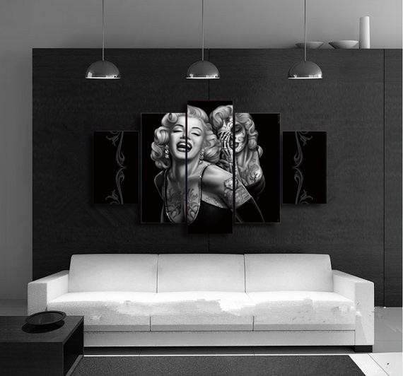 HD Printed Marilyn Smile Now Painting on Canvas Room Decoration Print Poster Picture Canvas Mc-012