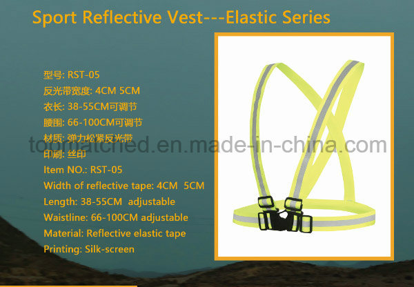 Elastic Series Sport Reflective Vest for Running Safety pictures & photos