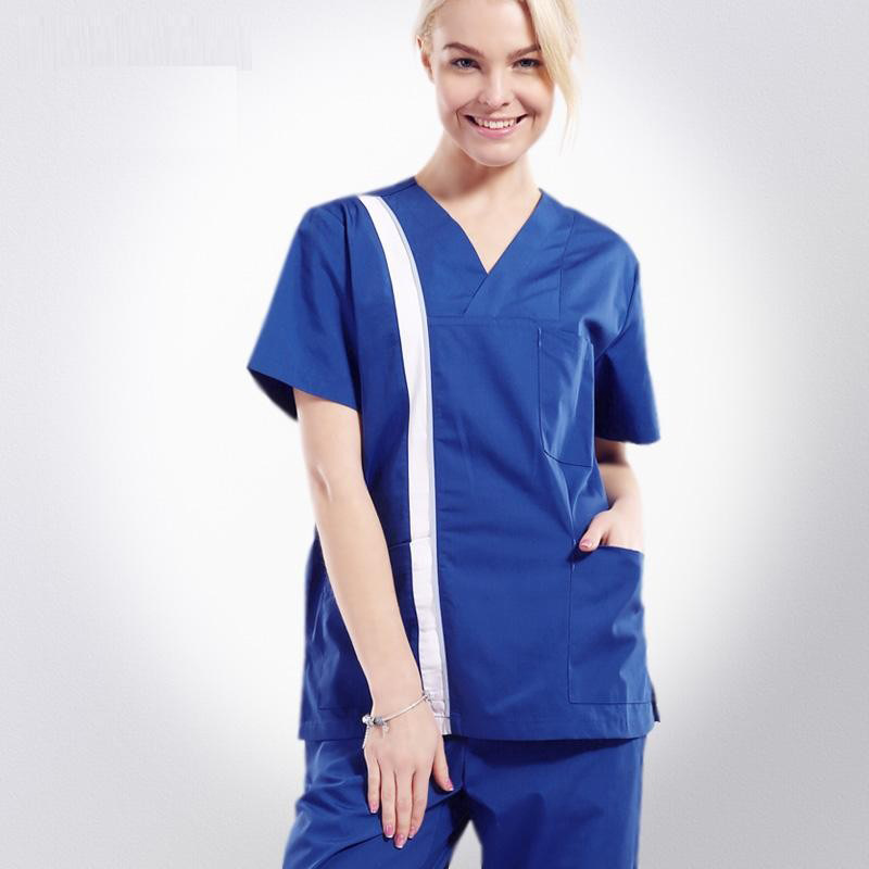 China 100% Cotton Hospital Gowns for Medical Factory Uniforms Scrubs ...