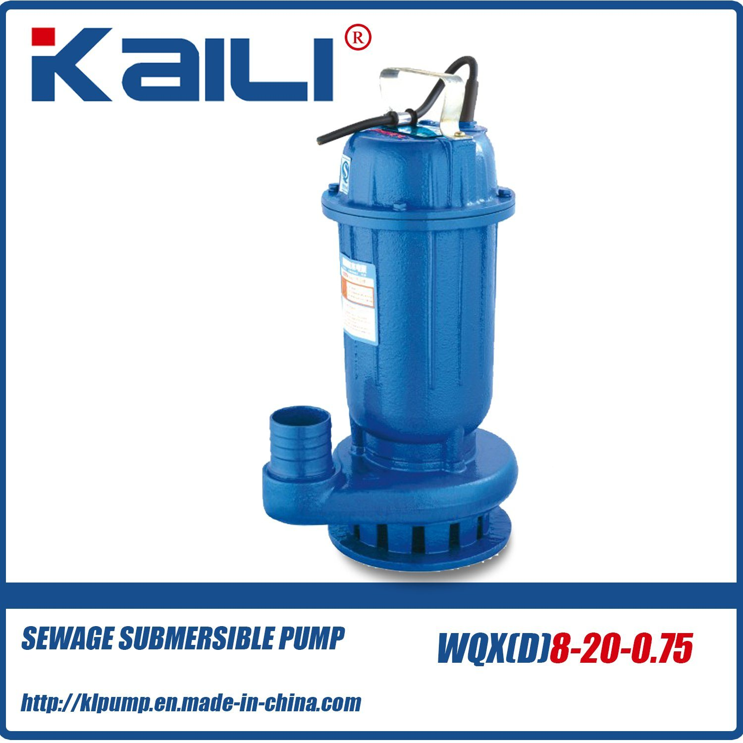 Wqx Wqxd Sewage Submersible Pump