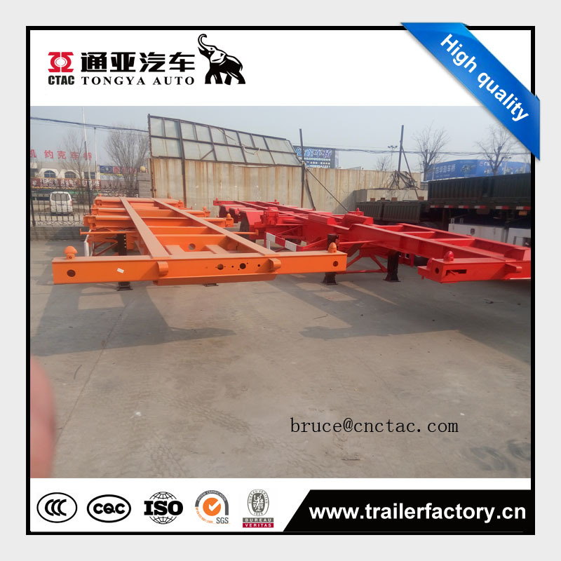 Tongya Hot Sale Tri Axles Skeletal Semitrailer Price