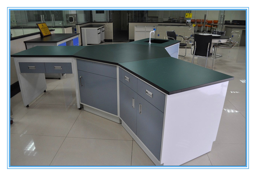 China Medical College Laboratory Hexagon Study Table   China Study Table,  Hexagon Study Table