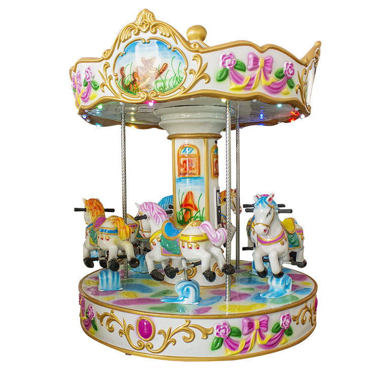 China Kids Outdoor Christmas Carousel Decoration Inflatable Horses Amut Machine
