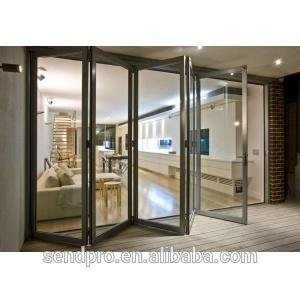 Double Glazed Aluminum Folding Door (Internal Blinds Or Shutters)