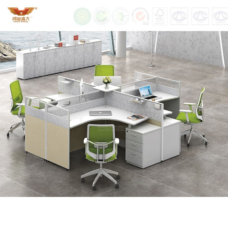 China Open White Round Cross Office L, Round Computer Table