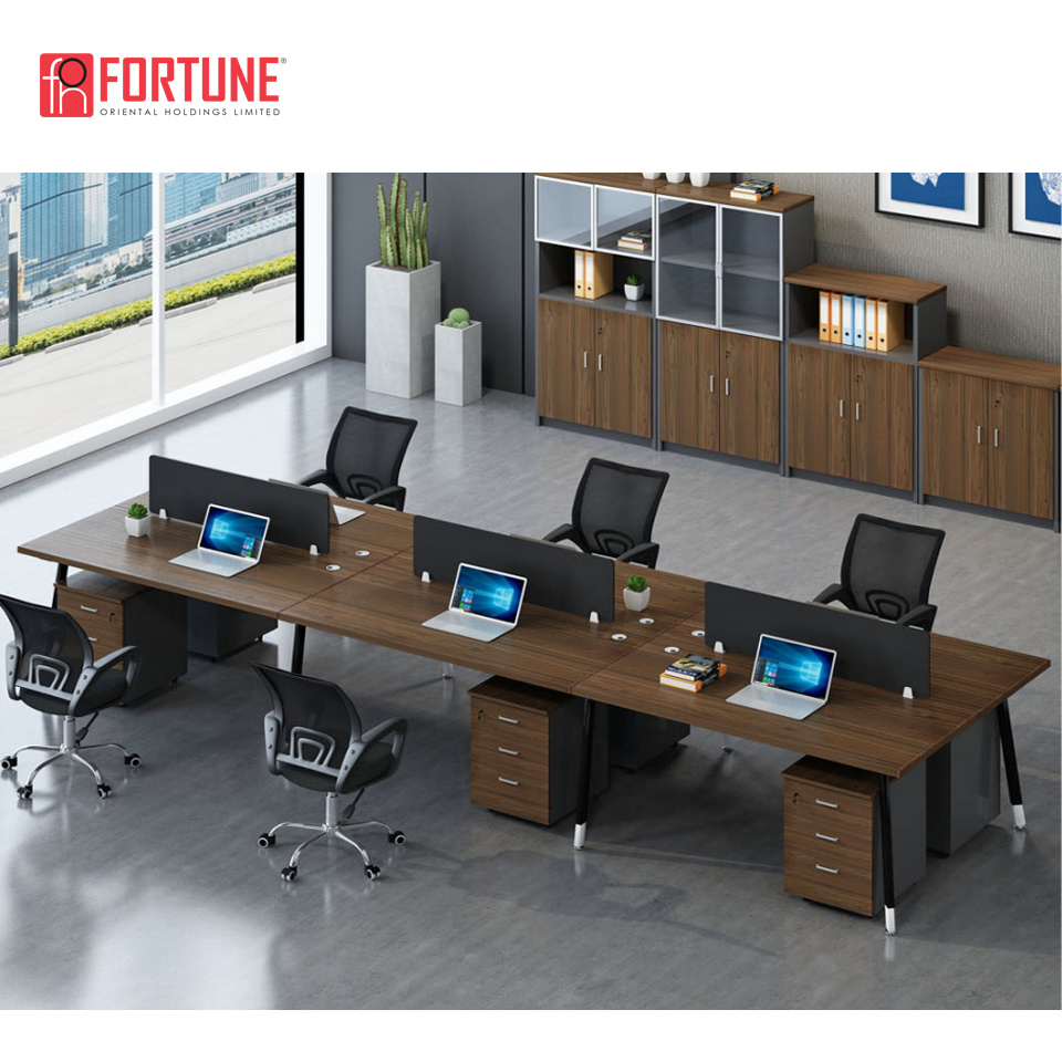 [Hot Item] Office Furniture Outlet 13 Person MFC Office Partition Wood  Office Workstation