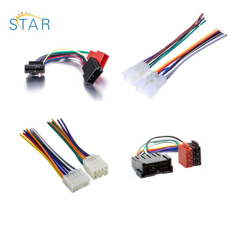 china pioneer car radio stereo 12 pin white iso wiring harness - china  radio wire harness, car radio wire harness  shanghai star electronic technology co., ltd.