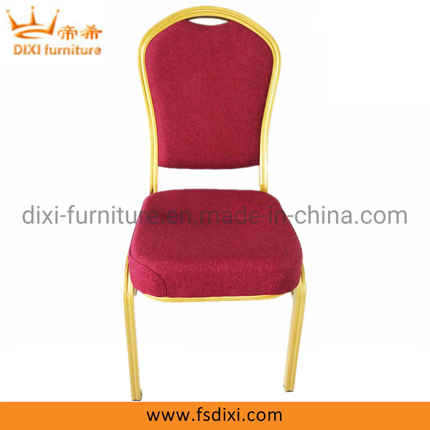Hot Item Cheap Stackable Hotel Wedding Used Aluminum Gold Banquet Chairs