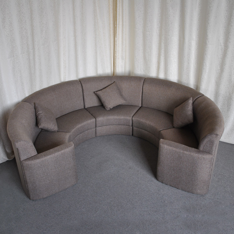 China Contract Hotel Lounge Lobby Fabric Sectional Round Sofa Sp Ks322 Restaurant