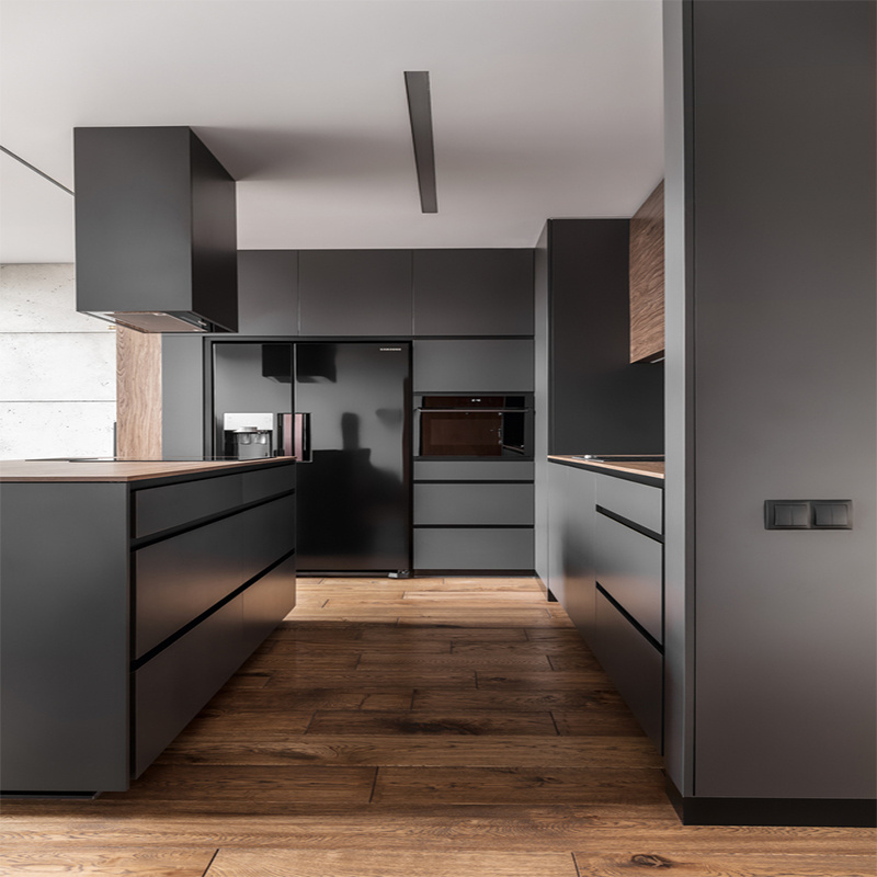 China Dark Gary Two Pack Contemporary Paint Kitchen Cabinets With