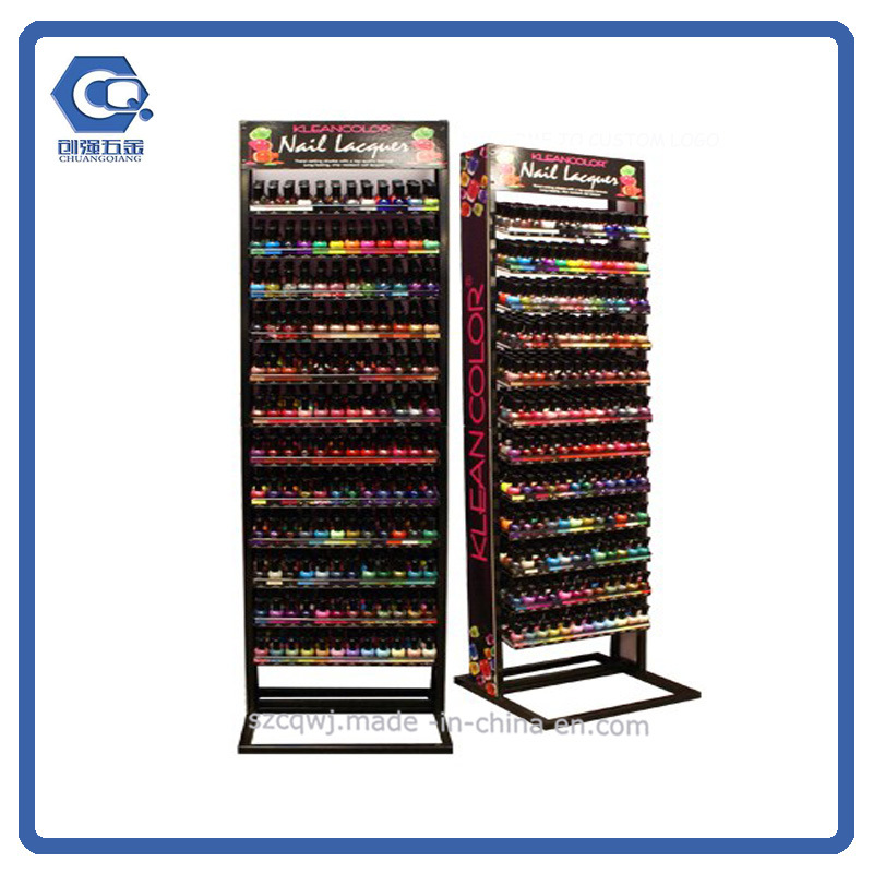 China Retail Store Commercial Display Metal Nail Polish Free Rack ...