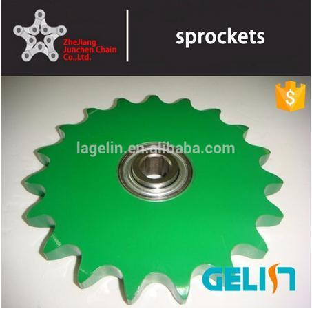 OEM Customized Hardened Teeth High Speed Roller Chain Ball Bearing Idler Sprocket pictures & photos