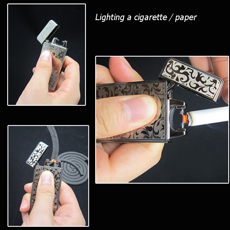 2015 New Design Cigarette Smoke Windproof Arc Lighter pictures & photos