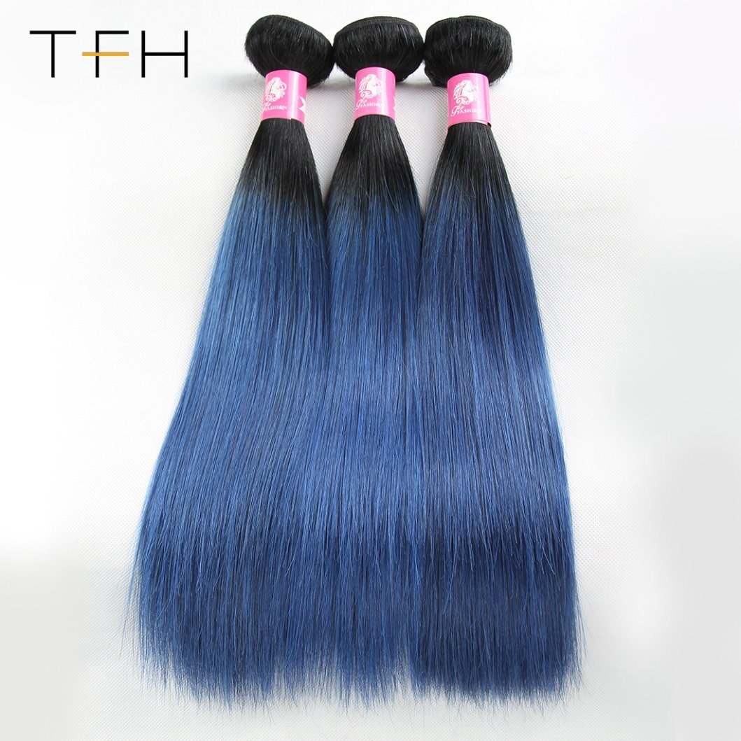 China Pre Coloed Straight Color Hair 1bblue Brazilian 9a Virgin