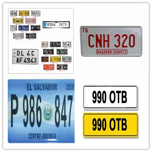 China Decorative Scrolling LED License Plate Frame - China ...