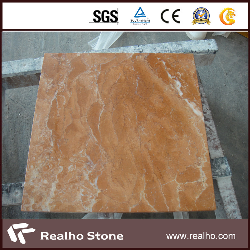 China Cut To Size Red Diano Rose Pink Marble Flooring Tile 50x50