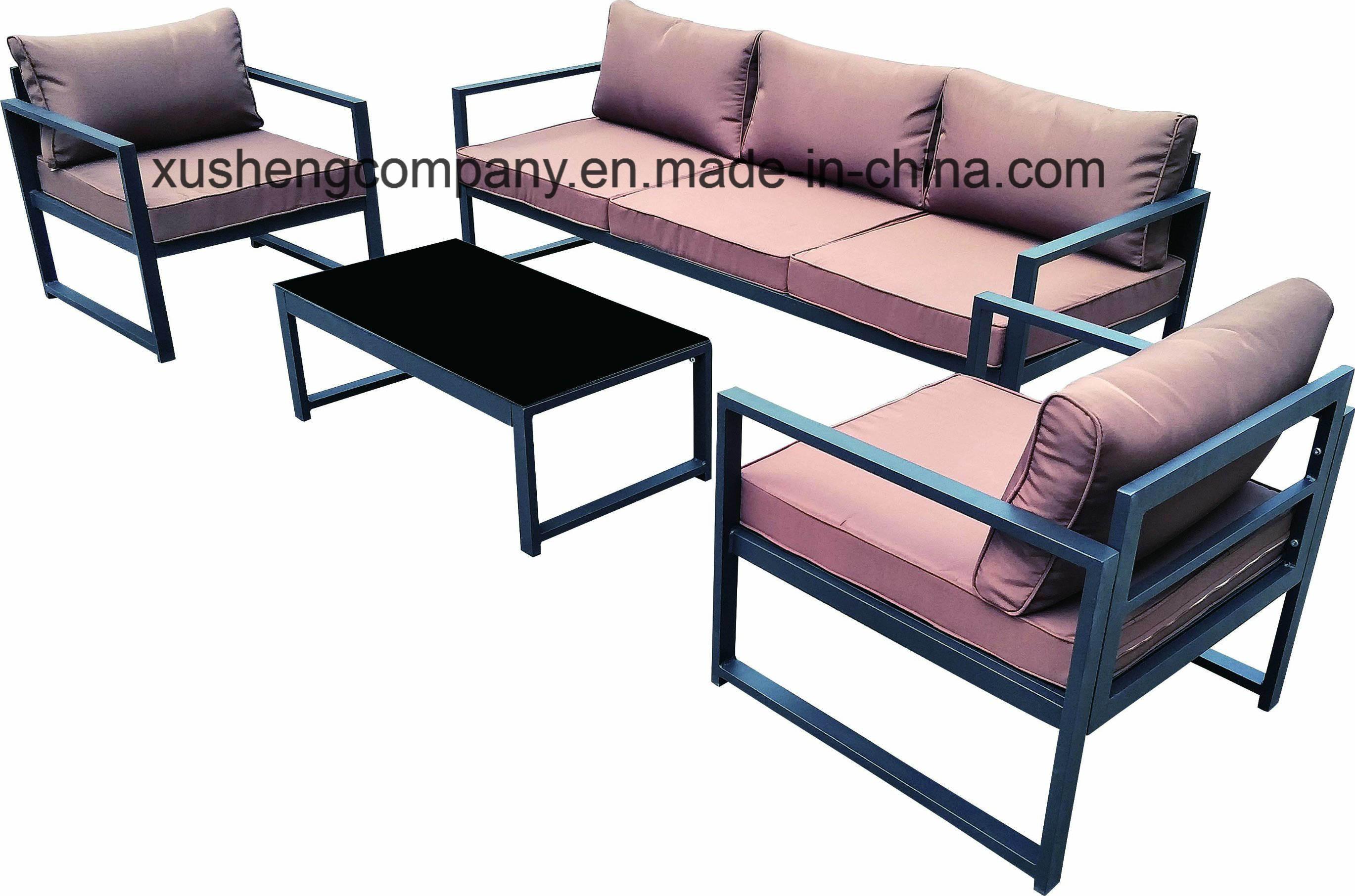 [Hot Item] Modern Design Steel Metal Leisure Waiting Office Home Outdoor  Sofa