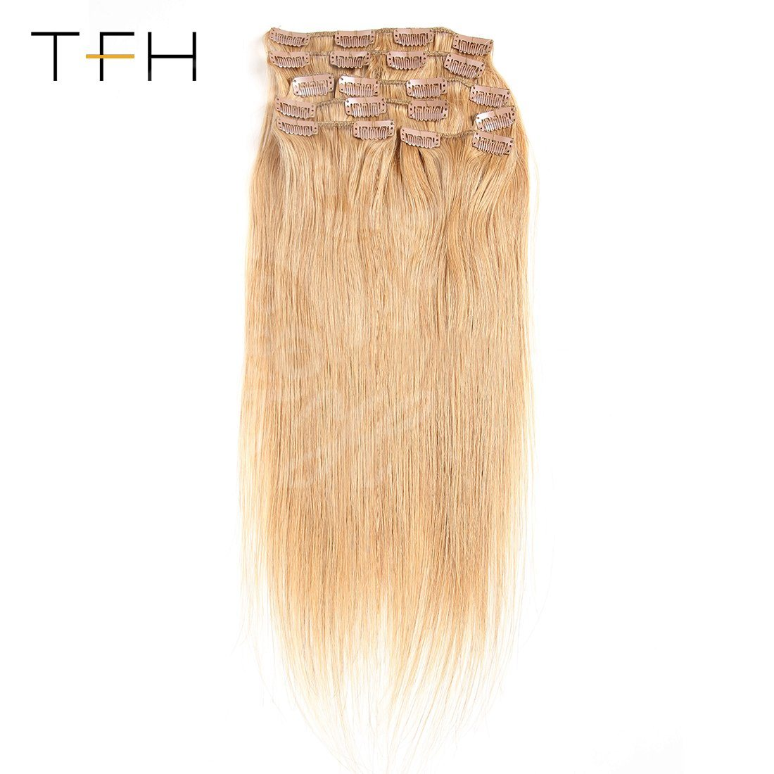 China 10a Indian Straight Hair Clip In Human Hair Extensions 8pieces