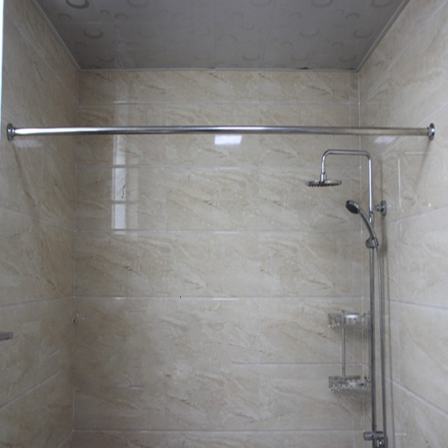 China Stainless Steel Straight Shower Curtain Rod Set