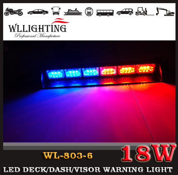 Linear LED Warning Strobe Flash LED Dash Deck Visor Light