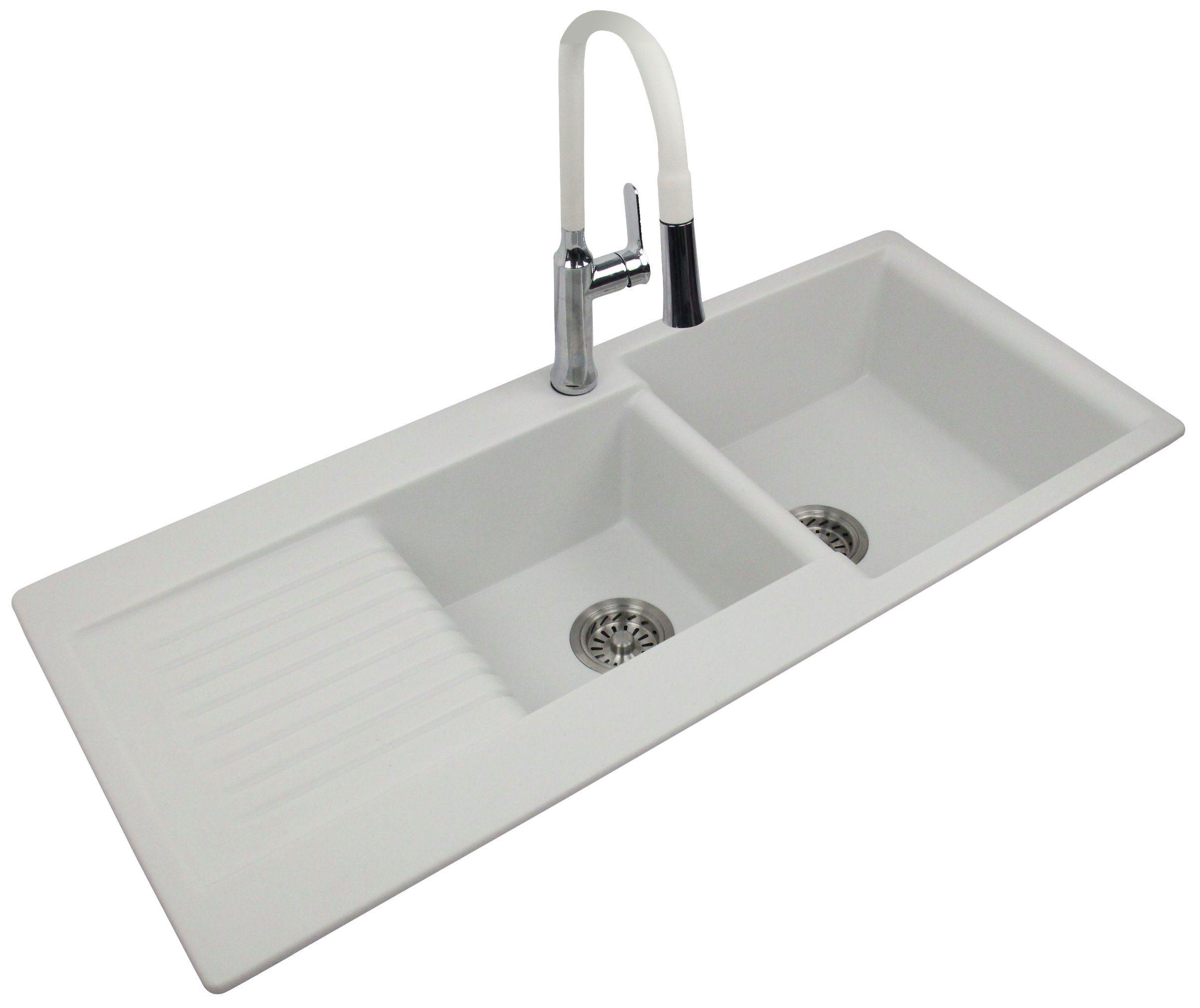 Image of: China Open Kitchen Best Granite Double Bowl With Drainboard China Quartz Stone Kitchen Sink Kitchen Sink
