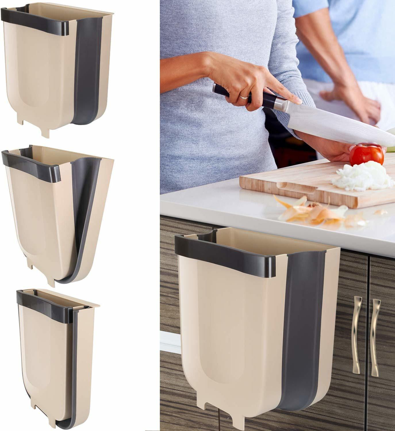 China Braoses Hanging Trash Can For Kitchen Cabinet Door Small Collapsible Foldable Waste Bins China Foldable Storage Drawer And Trash Can Price