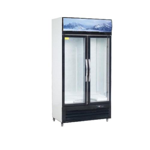 China Glass Door Display Freezers Drink Milk Drug Fridge Lcs 1000hk