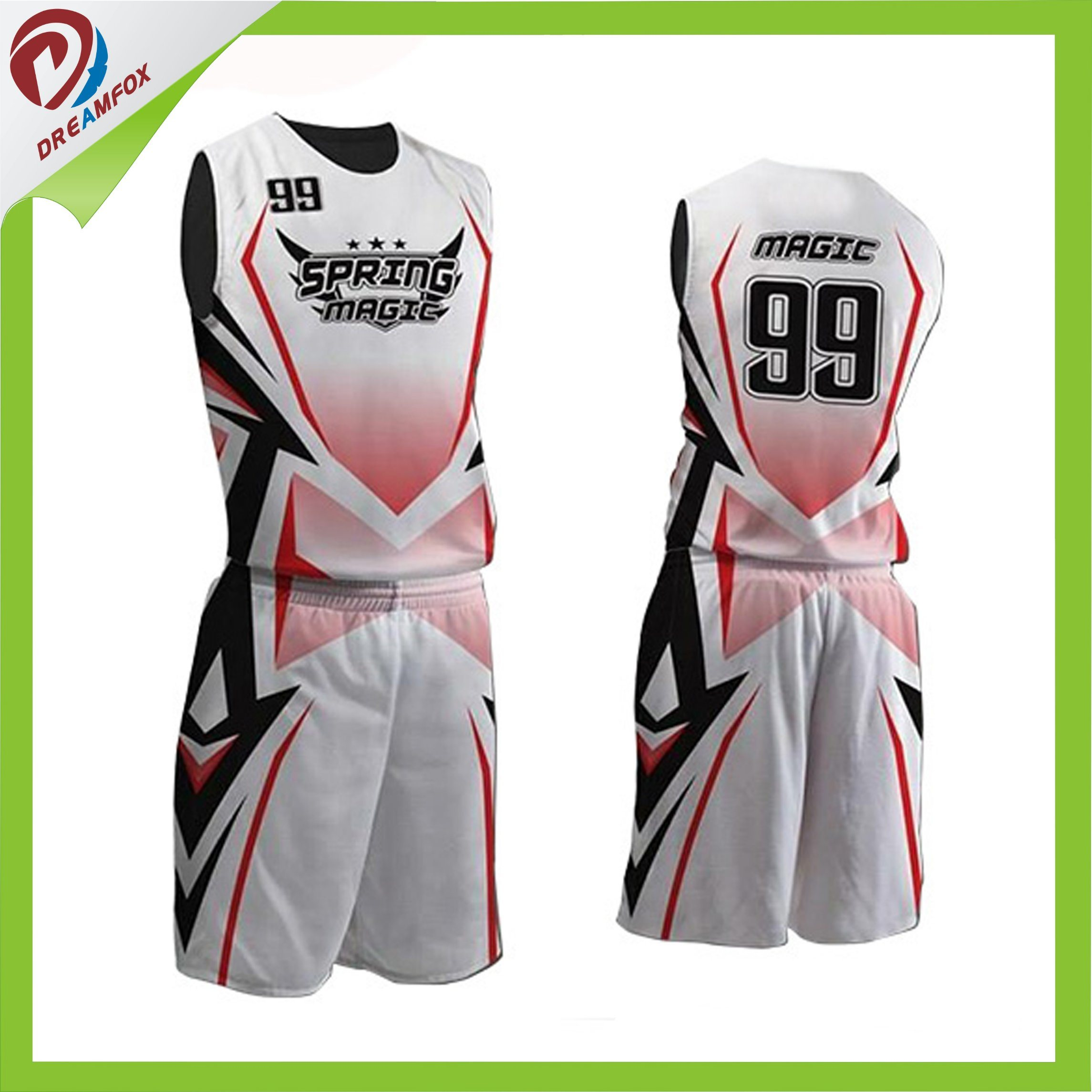 f2992487a4c China 100 Polyester Custom Fashion Sublimation Basketball Jersey. Hongen  Apparel 2017 Custom Best Latest Basketball Jersey Design 2017. New Black Red  ...