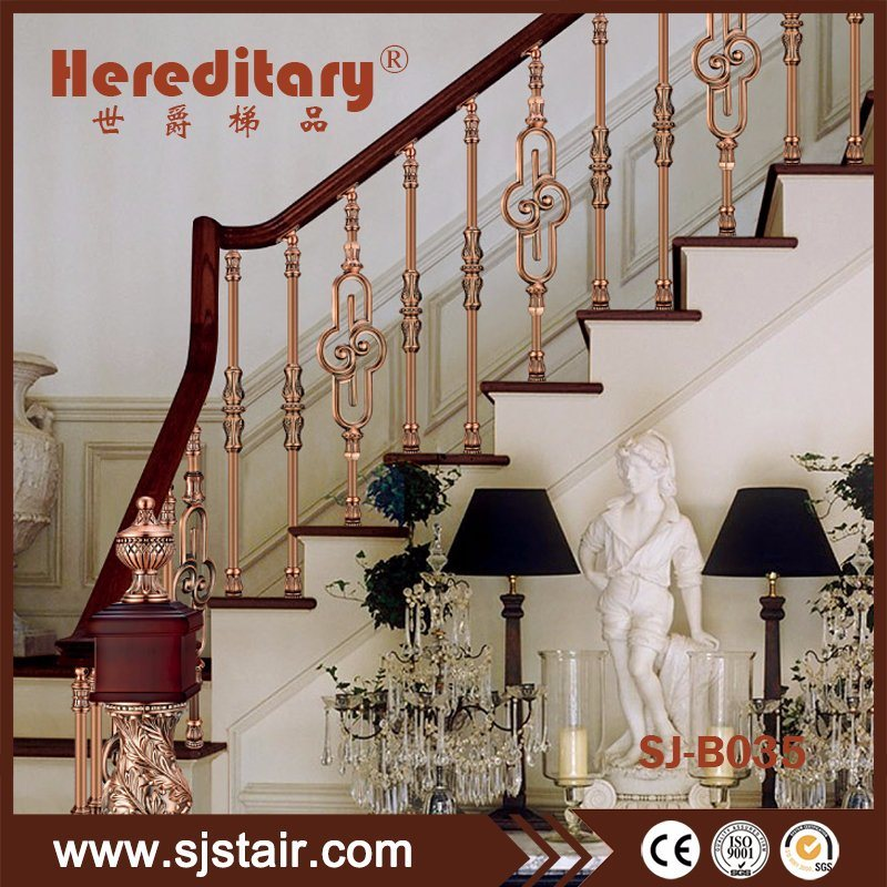 China Indoor Aluminum Stainless Steel Curved Staircase Railing Price
