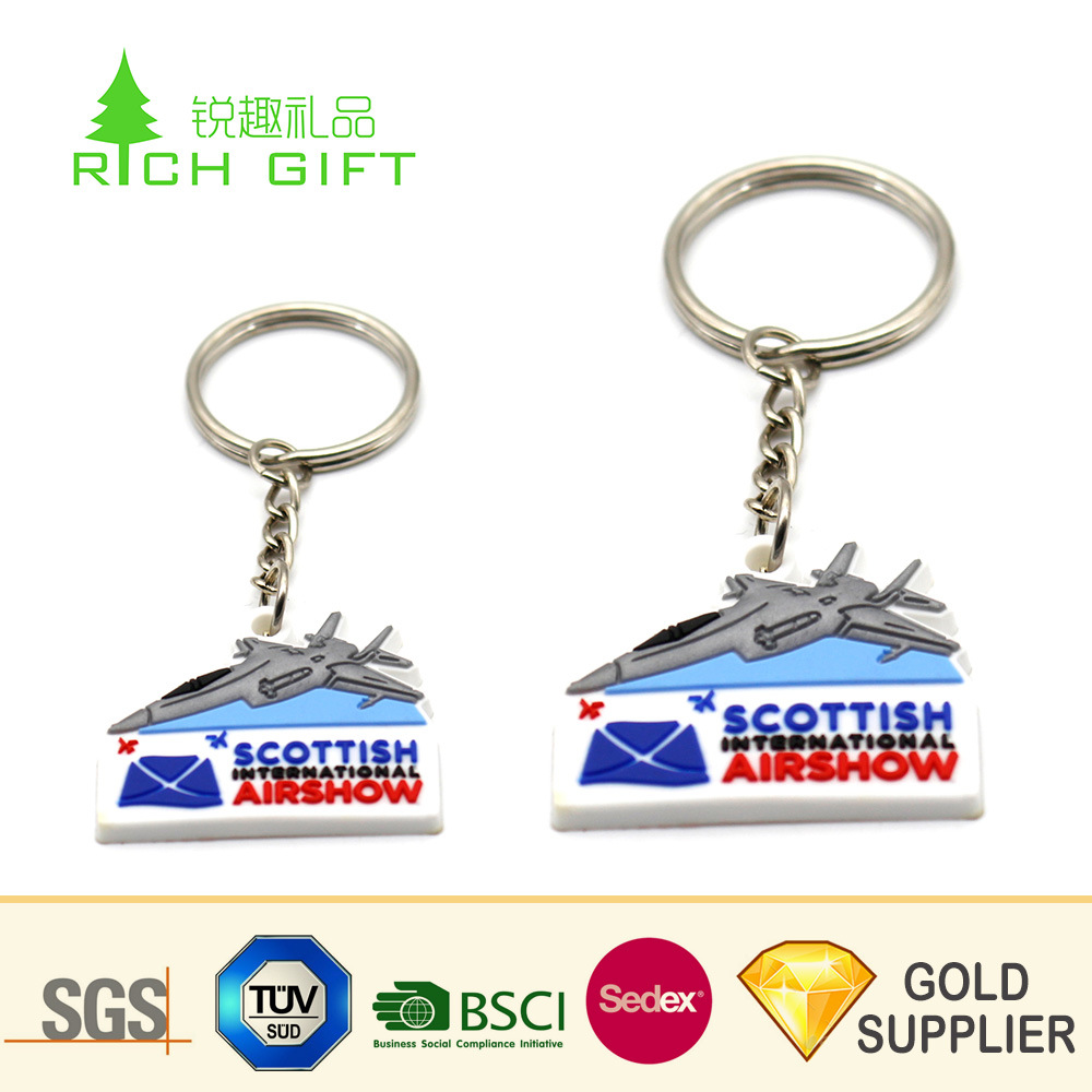High Quality Custom Shape Promotional Rubber PVC 3D Airplane Keychain  Manufacturers in China - China Airplane Keychain 27c282b0f9e8