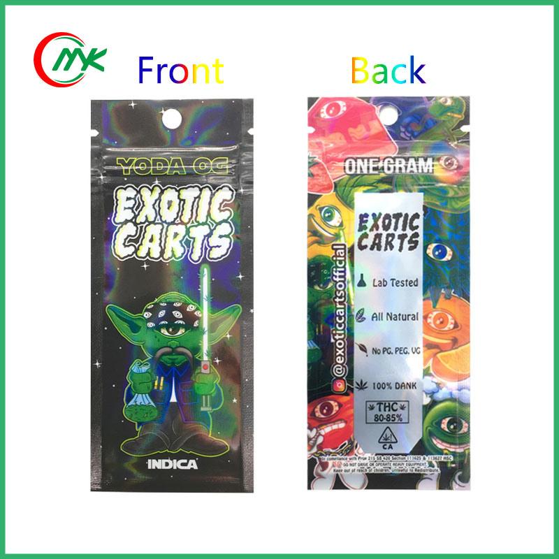 China Ikrusher Cbd Vape Cartridges Exotic Carts Holographic Bags
