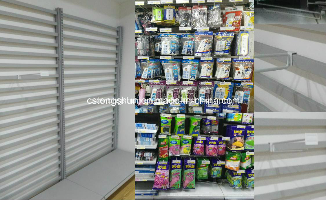 Supermarket Display Shelf with Hanging Hooks for Blister Package